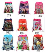 Wholesale Cheap Children Handbag - 2016 New Avengers 2 frozen ninja Age of Ultron drawstring bags backpacks handbags children school cartoon kids shopping bags Cheap Price