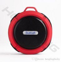 Wholesale waterproof aluminum speaker for sale - Group buy portable outdoors sport version C6 wireless Bluetooth Speaker waterproof Suction Cup speakers Handsfree MIC Voice Box for iphone samsun