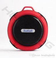 sprachlautsprecher großhandel-tragbare im Freiensportversion 3.0 C6 drahtloser Bluetooth-Sprecher wasserdichte Saugschalenlautsprecher Freisprecheinrichtung MIC Voice Box für iphone Samsun
