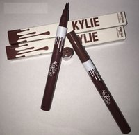Wholesale Wholesale Mixed Tools - Newest Kylie Liquid Eyeliner Waterproof Black and brown Color Kylie Pencil Eyeliner Makeup tool by Kylie Jenner Cosmetics