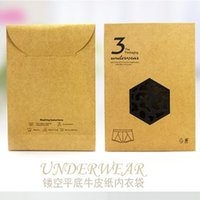 Wholesale Wholesale Underwear Used - 15cm*20cm Kraft paper underwear stockings packaging bag eight side sealing mini cloths storage bag home use free shipping 100pcs