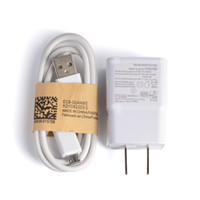 Wholesale Micro Usb 2a Ac - micro usb cable charger + AC EU Plug Wall charger high quality 5V 2A adapter for samsung s4 s3 s2