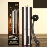 kahve değirmeni paslanmaz çelik toptan satış-Yaratıcı Kahve Çekirdeği Değirmeni Paslanmaz Çelik El Manuel El Yapımı Öğütücü Değirmen Mutfak Taşlama Aracı CCA6902 25 adet