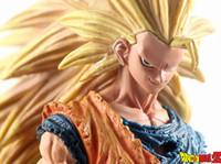 batalha super bola dragão venda por atacado-Ação Chanycore 21Cm Anime japonês Dragon Ball Z Dano de Batalha Ver Super Saiyan Goku 3Son Gohan Vegeta Action Figure PVC Toy Modelo
