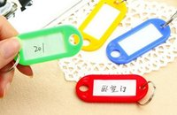 Wholesale Name Brand Accessories Wholesale - DIY Hotel Home Plastic Keychain Blank Key ID Label Baggage Name Cards Brand Mark With Ring For Key Chains Accessories 1000 PCS Lot