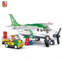 Wholesale Blocks Brick M38 - Sluban 251pcs M38-B0362 aviation Air transport plane discount Plastic building blocks set eductional bricks blocks kids diy toy