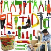 martelo de crianças de plástico venda por atacado-Venda por atacado - 34pcs brinquedos educativos do bebê Kit de ferramentas para crianças brincar de casinha de brinquedo de plástico clássico crianças ferramentas caixa de ferramentas de martelo Kit de ferramentas de simulação brinquedos