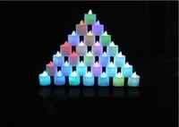 rote kerze glühbirne geführt großhandel-Weihnachten Weihnachten Dekorative LED Kerzen Nachtlicht Batteriebetrieben Veränderbar Rot Gelb Blau Grün Weiß für Party Hochzeit Romantische Birne