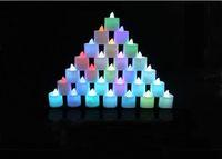 lâmpada vela vermelha levou venda por atacado-Xmas Natal Decorativo LED Velas Noite Luz Alimentado Por Bateria Mutável Vermelho Amarelo Azul Verde Branco para a Festa de Casamento Lâmpada Romântico