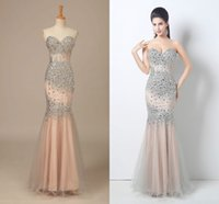 Wholesale Body Stocking Pictures - In-Stock 2018 Prom Dresses Beaded Sequin Body Sweetheart Mermaid Slim Floor-Length Pageant Gowns Evening Dresses Prom Dresses
