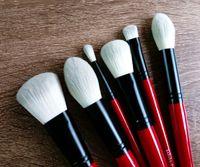 Wholesale Pro Brand Setting - SEP PRO Brand Makeup Brushes 6 pcs Red handle cosmetics powder blending foundation bronzer contour make up brush set tools.