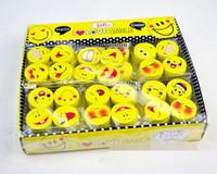 ingrosso gomma del viso sorridente-Bella faccia sorridente Emoji Eraser Carino gomma correzione matita Gomme Studente Materiale scolastico di cancelleria Promozione regalo per bambini