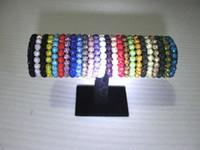 neue disco ball armbänder großhandel-neue Kristall 10mm * 20 Korn-Armband-Disco-Kugel-glänzende Ausdehnungs-Armband-Armband-preiswerte Verpackungs-Charmearmbänder 200pcs