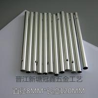 12 mm uzunluk toptan satış-Simli Hollow Rüzgar Ahenge Tüp Çapı 8 MM Uzunluğu 12 MM Moda Gümüş Renkler Için Parti Dekor El Yapımı Hediyeler El Sanatları 0 32gx A R