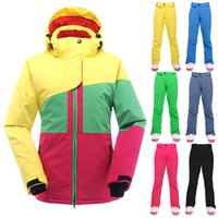 Wholesale-Winter Ski Suit For Women Impermeável Windproof Snowboard Jacket Pants Set Roupa de mergulho respirável Fêmea Snow Clothing