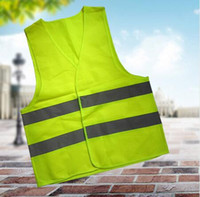 Wholesale Hi Visibility - 100pcs Car Motorcycle Reflective Safety Clothing High Visibility Safety Reflective Hi Viz Vest Warning Coat Reflect Stripes Tops Jacket