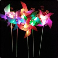 Wholesale Led Windmill Wholesale - 20pcs lot New Arrivall Flashing Light Up LED Windmill Glows Toys For Children Kids Present Gift Party