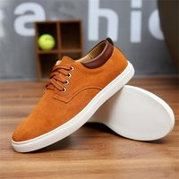 Wholesale Mens Suede Oxfords - New Mens Casual Dress Formal Oxfords Shoes Wing Tip Suede Leather Flats Lace Up Big Size Shoes British Fashion Party Dress Shoes 38-49.