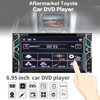 Wholesale Dvd Corolla Touch Screen - 6.95Inch 2 DIN Car DVD Player Touch Screen Bluetooth FM Radio MP3 Video Remote Control for Toyota Corolla Camry Kluger Hiace RAV4 Ya CMO_228