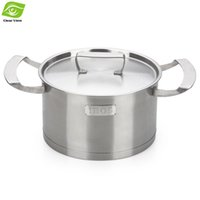 Atacado-20 centímetros de aço inoxidável da Pot Cooking Pot Multifuntional Soup Pot Para GasInduction