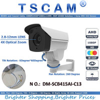 Wholesale Cctv Camera Optical Zoom - new 1080P 2.0MP CCTV AHD Camera DM-SCB415AI-C13 4 Invisible Array LED IR Bullet Camera Night Vision 4X optical Zoom Security Cam