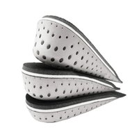 Wholesale Checkered Heels - S5Q Men Women Cozy Breathable Heel insert Increase Taller Height Lift Shoe Insole AAAGBY