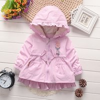 Wholesale Small Suit Coat Children - Girls autumn jacket 2017 new children small Tong hooded suit jacket and parent-child cardigan coat