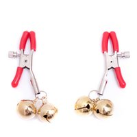 Wholesale Male Nipple Bells - 1pcs Adult male and female general Mimi passion tuning red single bell nipple stimulation milk clip