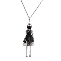 Wholesale Ethnic Fashion Dolls - Newest Arrival Fashion doll Necklace Pendants Jewelry Ethnic style doll pendant woman long necklace gift wholesale free shipping