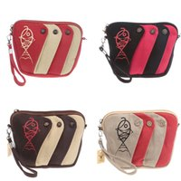 Wholesale Mini Pocket Fishing - Fashion fish bags Coin purse change purse stripe wallet keychain key case mini Casual Bags Leisure shoulder bag L37