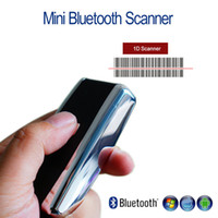 Wholesale Mini Barcode Scanner - Wholesale- Blueskysea QS-S01 1D Wireless Barcode Scanner Bluetooth Laser CCD Scanner Portable Mini 1D Scanner Wireless For Android IOS