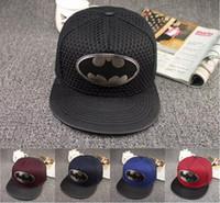 Wholesale Batman Ball - 2016 Europe and the new Batman adjustment hat cap cap skateboard Street hip-hop baseball hat man