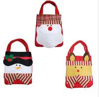 Wholesale Outdoor Deer Decoration - Santa Claus Snowman Deer 3 Styles Christmas Gift Bags Handbag Home Party Decoration Gift Bag