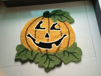 european festivals 2018 - Hand Hooked Halloween Pumpkin Mat Living Door Mats Carpet Supplies, Embroidered Porch Doormat Floor Rug Home Decoration Festival Gift
