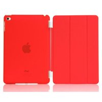 Wholesale Back Up Business - Magnetic Smart Cover Matte Back Folio Folding Color Case For iPad 2 3 4 5 6 Air mini 1 2 3 4 Retina Auto wake Up Sleep Function