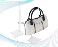 Wholesale Women Handbag Rack - Adjustable Height Metal Handbag&Bag Display Stand White Women Handbag &Purse Display Rack Holder Stand bag holder rack