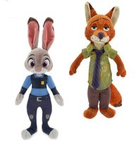 Wholesale Doll Princes - 33-35cm Prince Plush Dolls The Zootopia  Zootropolis Fox And Robbit Stuffed Animals Action Figure Toys For Child Kids Gift
