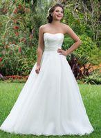 Wholesale Simple Elegant Dress Designs - Simple Design Elegant Mermaid Wedding Dresses Long Strapless Long Chiffon Women Bride Gowns Plus Size Hot