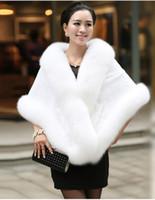 Wholesale bolero jacket evening - 2018 Winter Wedding Coat Bridal Faux Fur Wraps Warm shawls Outerwear Black Burgundy White bolero Jacket Women Jacket Prom Evening Party