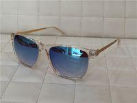 Wholesale Linda Farrow - new linda farrow sunglass men brand designer coating lens oversized sunglass vintage flap top frame summer style outdoor desig