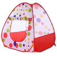açık havada çadır çocukları toptan satış-Toptan-Bebek Oyunu Oyna Çadır Katlanabilir Çocuk Çocuklar Pop Up Okyanus Top Oyun Çadırı Kapalı Açık Playhouse Çadır Bahçe Playhouse Çocuklar Çadır