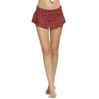 Wholesale Sexy Women Plaid Skirts - 2017 Women Fashion Sexy Lady Schoolgirl Cosplay Sleepwear Plaid Night Super Mini Pleated Skirt Short Skirt size S M L XL XXL