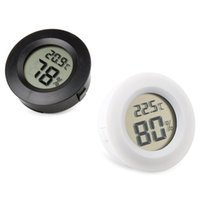 Wholesale Digital Reptile Pet Embedded Hygrometer Thermometer quot Inch Round Black Face H210306