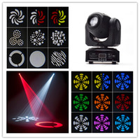 Wholesale moving head led gobo - New arrival Latest Version Hot Led 30W Super Bright China Mini Moving Head Light Stage Dj 30W Spot Gobo Moving Heads Lights