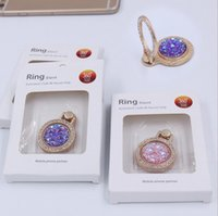 Wholesale Diamond Luxury Mobile Phone - Newest Luxury 360 Degree Shiny Diamond Stand Finger Ring Mobile Phone Cell Phone metal Holder For all Phone G0592