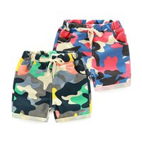 Wholesale Kids Cargo Trousers - 2016 summer Fashion Children's Clothing Kids Boy Camouflage Army Harem Shorts Pants Sport Camo Cargo Cross Trousers