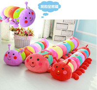 Wholesale toy colorful caterpillars resale online - Colorful caterpillar plush toy doll bed pillow girlfriend favorite doll birthday gift for children