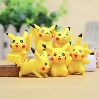 3cm Pikachu Mini Figurines d'action Poke Centre Monster Modèles Poke Go Anime japonais Collection Jouets PVC mignon Pikachu Doll Cartoon 6 Styles / Set