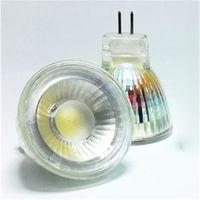 Wholesale Mini Led 35mm - Wholesale- 1PCS Mr11 COB LED Light Bulb 35mm Diameter 5W 12V 220V Bright Mini COB LED Mr11 Spotlight Bulb GU4.0 GU5.3 Base Lamp