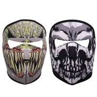 Wholesale Motorcycle Face Mask Pattern - Wholesale- Newly 3D Printed Breathable Cycling Mask Bicycle Motorcycle Riding Windproof Full Face Mask 2 Pattern Available